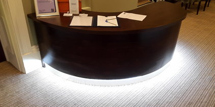 Supporting image for Bespoke Reception Desk for a School in Frome
