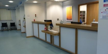 Supporting image for Bespoke Reception Desk at a Site in Gloucestershire