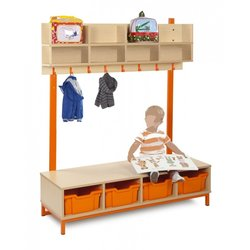 Supporting image for Candy Colours Cloakroom - Top with 8 Compartments & 8 Hooks