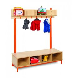 Supporting image for Candy Colours Cloakroom - Top with 4 Open Compartments & 8 Hooks