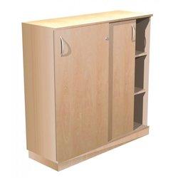 Supporting image for Alpine Essentials 3 Shelf Sliding Door Cupboard - W1000