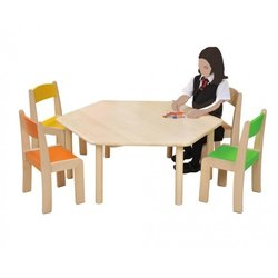 Supporting image for Creative! Hexagonal Beech Nursery Table
