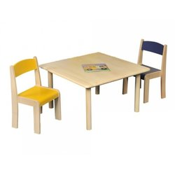 Supporting image for Creative! Square Beech Nursery Table