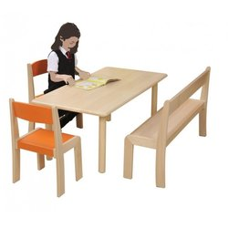 Supporting image for Creative! Rectangular Beech Nursery Table
