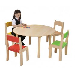 Supporting image for Creative! Circular Beech Nursery Table