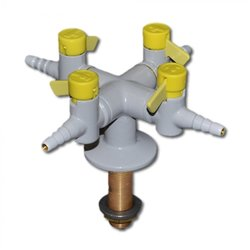 Supporting image for 4 Way Bench Mount Drop Lever Gas Tap