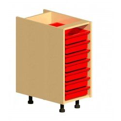 Supporting image for Workshape Fitted 360 1 Column Tray Unit