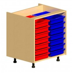 Supporting image for Workshape Fitted 700 2 Column Tray Unit