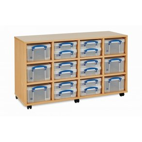Supporting image for Really Useful Mobile Storage - 12 Box - Low Mobile Storage Unit