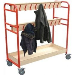 Supporting image for Mobile Coat Hook Trolley - 32 Person