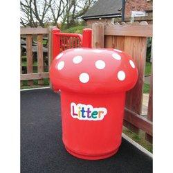 Supporting image for Mushroom Litter Bin with Spots