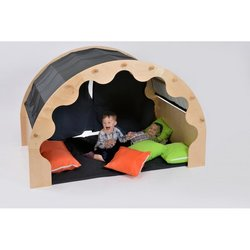 Supporting image for Wooden Play Module with Curtains, Cushions and Large Mat