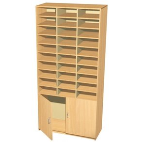 Supporting image for 30 Pigeon Hole Storage with Cupboard