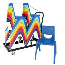 Supporting image for Chevron Chair Trolley - 30 Chairs
