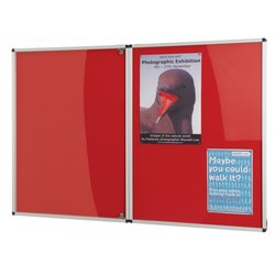 Supporting image for Resist-a-Flame Tamperproof Noticeboards - Double Door