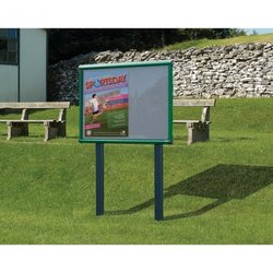 Supporting image for Premium Post Mounted Exterior Showcases - Sunken Posts