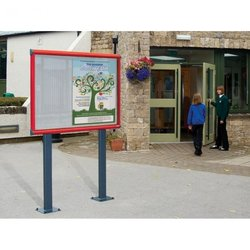 Supporting image for Premium Post Mounted Exterior Showcases - Bolt Down Posts