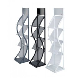 Supporting image for Curved Free Standing Literature Display
