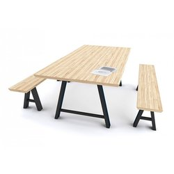 Supporting image for Galway - Rectangular - Solid Oak - Meeting Benches