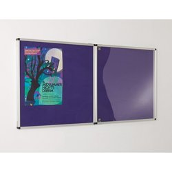 Supporting image for Colourtone Vibrant Tamperproof Felt Noticeboard - Double Doors