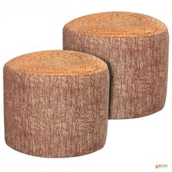 Supporting image for Tree Stump Bean Bag Stool (Pack of 2)