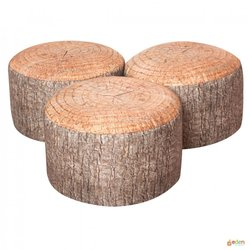 Supporting image for Tree Stump Bean Bag Stool (Pack of 3)