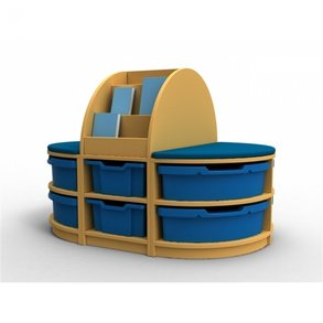 Supporting image for Lundy Book & Seat Storage Island Unit