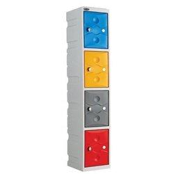 Supporting image for Interior Plastic Locker - 4 Doors - H1800
