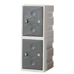 Supporting image for Interior Plastic Locker - 2 Doors - H900