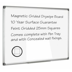Supporting image for Drywipe Boards - Gridded