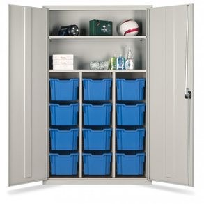 Supporting image for 12 Extra Deep Trays Storage Teacher Cupboard