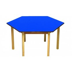 Supporting image for Blue Hexagonal Nursery Table