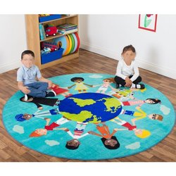 Supporting image for Primary World Multicultural Activity Rug - NEW Teal Colour!