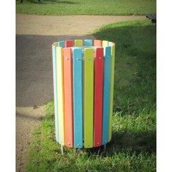 Supporting image for Park Litter Bin - Bright Colours