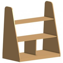 Supporting image for Creative! Freestanding Open Backed Bookcase with Angled Sides