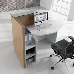 Supporting image for Y100105 - Oval Left Handed Reception Desk