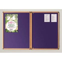 Supporting image for Light Oak Effect Premium EcoColour Tamperproof Noticeboards - Double Door
