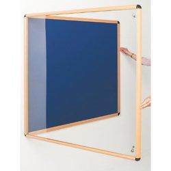 Supporting image for Light Oak Effect Premium Loop Nylon Tamperproof Noticeboards - Single Door