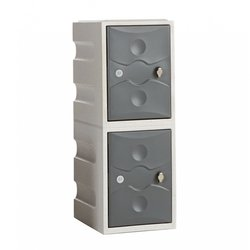 Supporting image for Exterior Plastic Locker - 2 Doors - H900