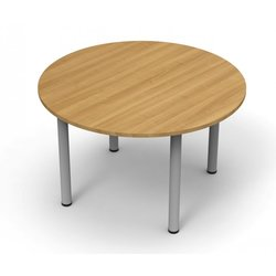 Supporting image for Alpine Essentials Round Meeting & Conference Tables - Pole Legs