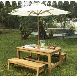 Supporting image for Outdoor Table with Stacking Benches