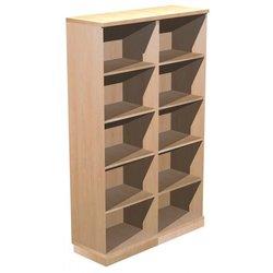 Supporting image for Alpine Essentials 5 Shelf Open Bookcase - W1200