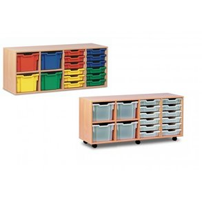 Supporting image for 10 Tray Low Variety Storage Unit - Mobile & Static options