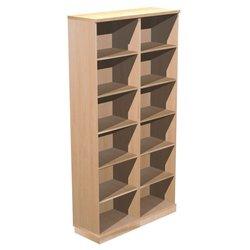 Supporting image for Alpine Essentials 6 Shelf Open Bookcase - W1200