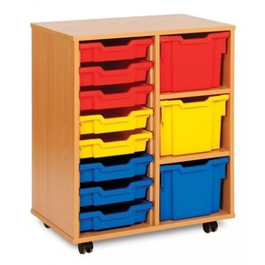 Supporting image for 11 Tray Variety Narrow Storage Unit - Mobile