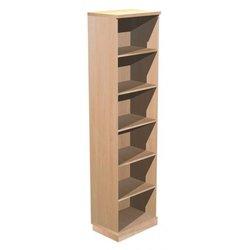 Supporting image for Alpine Essentials 6 Shelf Open Bookcase - W600