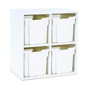 Supporting image for 4 Jumbo Tray Stackable Storage Unit