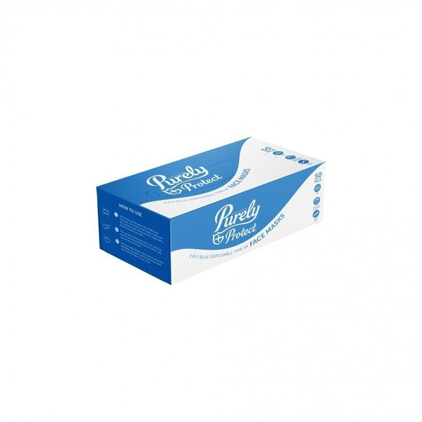 Supporting image for Type IIR 3 Ply Face Masks - Pack of 50