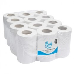 Supporting image for Mini Centrefeed Rolls 2ply 60m White x12