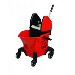 Supporting image for Red Ladybug Kentucky Mop Bucket With Wringer